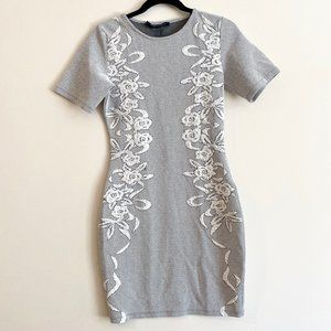 FrenchConnection Embroidered Bodycon Pullover Dres